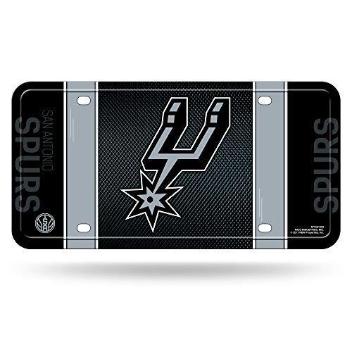 Rico NBA Spurs San Antonio Metall Auto Tag Sports Fan Automotive Zubehör, Multicolor, One Size