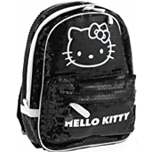 Hello Kitty Deluxe Backpack Black and White Sparkle Sequins