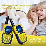 kingtoys 2X Funkgeräte für Kinder,Funksprechgerät 3KM Reichweite 8 Kanäle VOX Taschenlampe Sprechfunkgerät Funkgeräte mit LCD Display Walkie Talkies(Gelb) Test