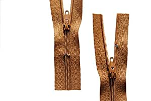 Reißverschluss Hellbraun 140 cm für Bettwäsche Kopfkissen Bettbezüge schließbare Länge