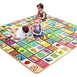 TWGDH 2 Side Kids Stuoie Striscianti Gioca Gioco Pad Giocattolo Educativo per Bambini Pavimento in Moquette Morbida - Impermeabile E Resistente All'umidità,200×180Cm