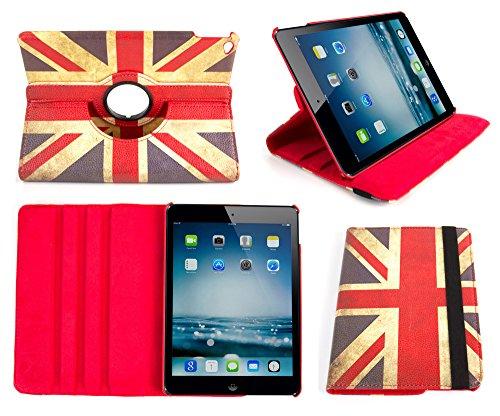 """DURAGADGET Etui Rotatif 360° pour Apple iPad Air 2 (sortie 2014) tablette WIFI écran Retina 9.7"""" - motif drapeau anglais """"Union Jack"""" - Garantie 5 ans"""