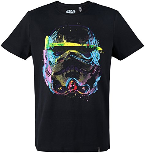 GOZOO Star Wars T-Shirt Herren Imperial Stormtrooper Neon Sketch Art 100% Baumwolle M (Star Wars Shirt)
