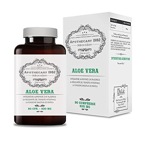 Apothecary 1982 - Aloès Vera complément alimentaire pour aider à la perte de poids, 90 comprimés 200 mg - 100% Produit en Italie