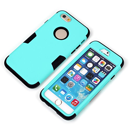 iPhone 6 / iPhone 6s 4.7 inch Hülle LifeePro [Anti-Scratch] Drop Protection 3 in 1 Weich Silicone + PC Stoßfest Armor Zurück Hüllenabdeckung Non-slip Voll Körper Schutzschale für iPhone 6 / iPhone 6s  Grün + Schwarz