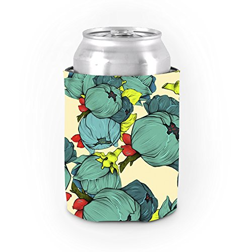 Tropical können Kühler Koozies Green Flower Muster kann Cooler Frauen Bier kann Sleeve Dickes Neopren Kühler Cup Party Favor Geburtstag Geschenke