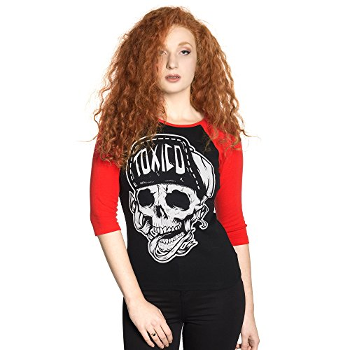 Toxico -  Maglia a manica lunga  - Donna Black/Red Large