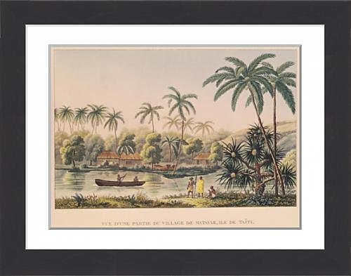 framed-print-of-village-of-matavae-tahiti-illustration-from-voyage-autour-du-monde-sur-la