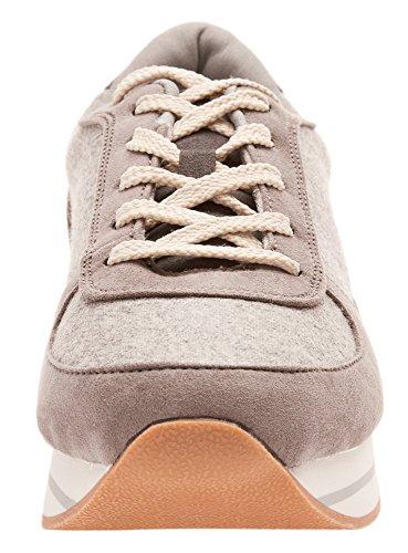 Material Cinza Ultra Sneakers Oodji 2325b De senhoras Combinado XRqgCw