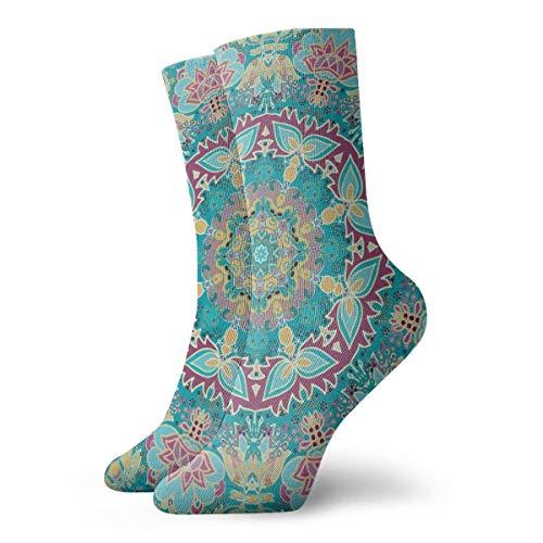 Vcoanyu Frauen Herren Crew Socken Kissen Dekorative Rosette Athletisch Laufen Leistung Outdoor Sports Wandern Trekking Socken 11,8 Zoll -