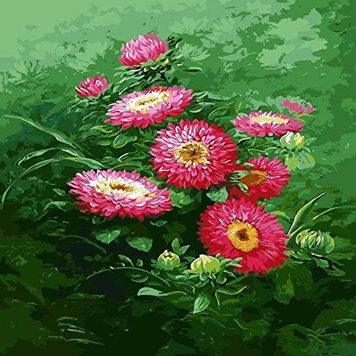 zlhcich Digitale malerei palast Blume Landschaft Wohnzimmer Dekoration malerei System q004-28 mit Rahmen 40 cm * 50 cm