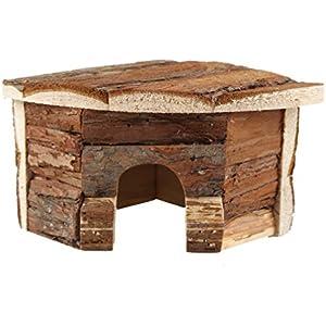 emours Hamster Holz House natural Holz Chews Spielzeug Animal Versteck klein, klein