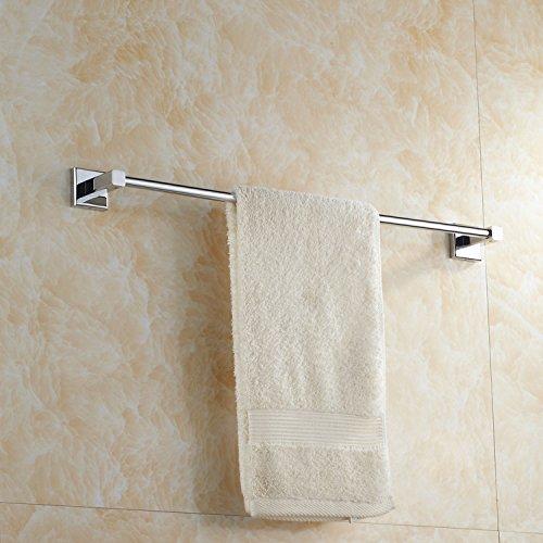 Hlluya Handtuchhalter Anhänger Quadrat Kupfer Bad Handtuchhalter 1 Stufe Handtuchhalter aus massivem Messing, 60 cm
