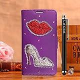 Locaa(TM) For Nokia Lumia 1020 Nokia1020 Lumia1020 3D Bling Case Funda 3 IN 1 Accesorios Funda Bumper Shell Caso Alta Calidad Piel Cuero Para Protector Dura Cover Cas [1] Púrpura - Flaming Lips