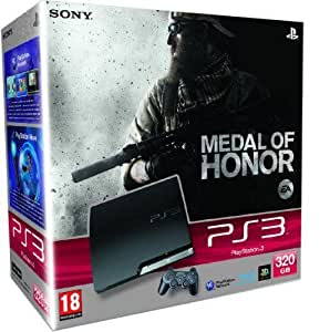 Console PS3 320 Go noire + Medal of Honor