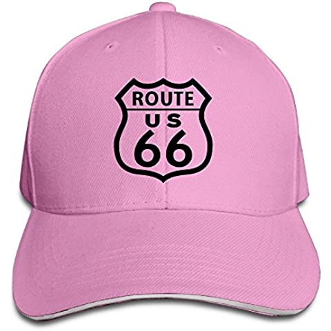 Route 66 Road Sign Gorra de béisbol