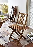 SAM Gartengruppe Taastrup, 3tlg, Akazienholz-Balkongruppe,FSC 100% Zertifiziert,1 Tisch + 2 Stühle,Garten-Tischgruppe Vergleich