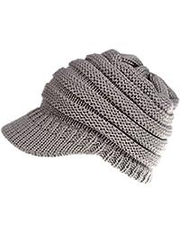 Boomly Autunno e Invernale Caldo Beanie Cappello in Lana berretto con  visiera Berretto da donna in dfee3524dc20