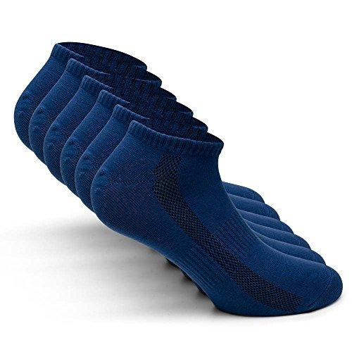 Snocks Damen Sneaker Socken Blau 39-42 Blaue 39 40 41 42 40-42 38-40 Frauen Herren Männer Füßlinge Füsslinge Baumwolle Sneakers Kurze Socks Kurz Sneakersocken Sport Unisex Damensocken