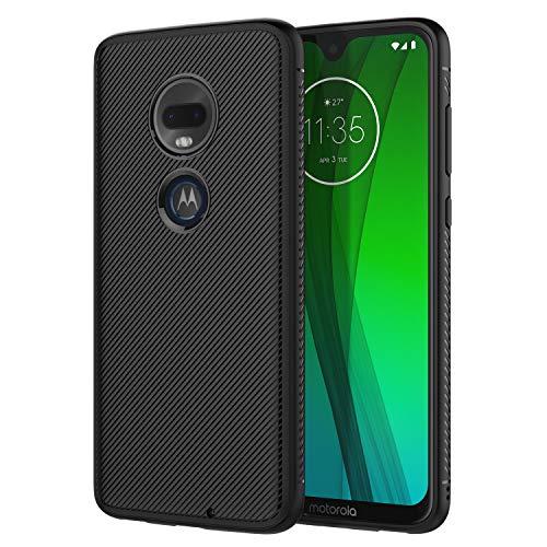 MoKo Handyhülle Kompatibel mit MotoG7/MotoG7Plus Hülle, leichte stoßfeste Schutzhülle, TPU Stoßkante Twill Cover für MotorolaMotoG7/MotoG7Plus6.2