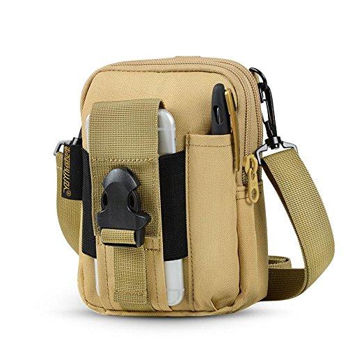 BUSL Wandern Hüfttaschen Bag Outdoor Männer und Frauen Schultertasche Multifunktions-Handys Beuteltaschen a