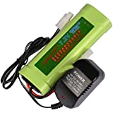 1 Pcs 7.2V 3800mAh Ni-Mh Rechargeable Battery Pack RC Tamiya Plug + Charger USA
