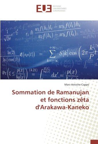 Sommation de Ramanujan et fonctions zêta d'Arakawa-Kaneko par Marc-Antoine Coppo