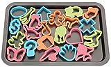 Backblech 43,3 x 29 cm inkl. 22 Ausstechformen - Plätzchenform - Blechkuchen - Kuchenblech - Ofenblech - Herdbackblech - Kuchenbackblech