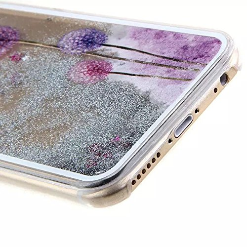 Paillette Coque pour iPhone 7 Plus,iPhone 7 Plus Coque Transparente,iPhone 7 Plus Coque Crystal,iPhone 7 Plus Dual Layer Plastic Liquide Coque Bling Flash Etui Plastic Case Cover pour iPhone 7 Plus 5. Heart Dandelion 7