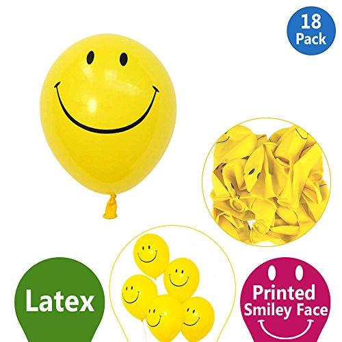 Smiley, Luftballons–Ideal für alle Gelegenheiten–beschaffen Smile To Face von jeder mit Diese Neuheit Ballons (118Stück Luftballons)