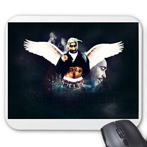 Amazing 2Pac Tupac Shakur Thug Winkel 3D Digital Bright weiße Flügel Bewölkt Smoke City Hintergrund Hip Hop Rap Premium Qualität Digital bedruckt Mauspad