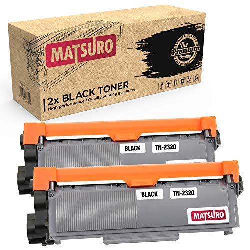 Matsuro Originale | Compatibili Cartuccia Del Toner Sostituire Per BROTHER TN-2320 (2 NERO)
