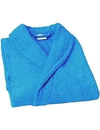 Home Basic Kids - Albornoz con capucha para niños de 12 años, color turquesa