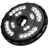 Lámpara para Sombrilla de Patio, LUCKYDIY Lámpara de parasol de 28 LED mejorada con tres modos de iluminación y USB recargable para tiendas de campaña y uso en exteriores