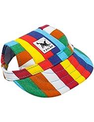 Sannysis accesorios para perros, sombrero de visera de béisbol para mascotas pequeñas (I, S)