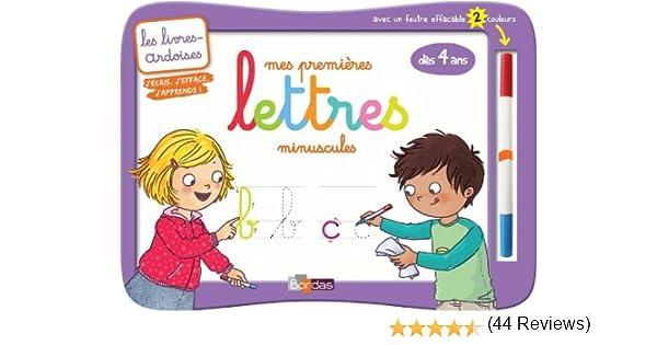4d83dfc76ef Amazon.fr - Livres-ardoises - Mes premières lettres minuscules + 1 feutre 2  couleurs - Collectif - Livres