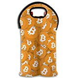 Yellow Bitcoin Wine/Water Two Bottles Tote Full Printed Portable Bag New16