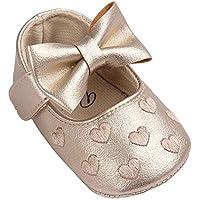 Krabbelschuhe Babyschuhe Lauflernschuhe Kleinkind Ronamick Baby Kinder Junge Schuhe Netter Rutschsicheren Prinzessin Schuhe(Age:0~6 Monate, Gold)