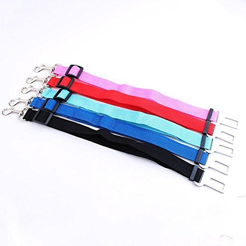 Auto-Sicherheitsgurt Hund Katze, 2er Set Anschnallgurt Adapter, verstellbar 48 bis 70 cm, Farbe Blau - 6