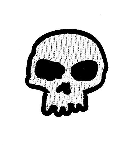 (Little Bear Shop Cartoon Patches Halloween Classic Skull Dead Cartoon Kids Patch Hand Bestickt und Bügelbild Symbol Jacke T-Shirt Patches aufnäher Zubehör)