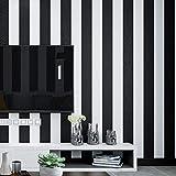3D Wandaufkleber modernen minimalistischen wilden 3D Stereo breiten schwarzen und weißen Streifen Tapeten Wohnzimmer Wand Restaurant Shop Pvc Tapete 0.45 * 10M