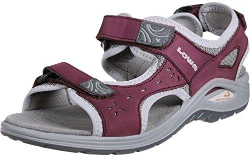 Lowa Urbano Ladies Sandale légere pour des voyages specialment pour l'été ou des voyages dans regions chaudes. Pour les dames. Berry/LightGrey