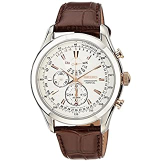 Seiko Dress Chronograph White Dial Men's Watch-SPC129P1