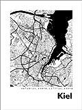 Poster 30 x 40 cm: Stadtplan von Kiel von 44spaces -