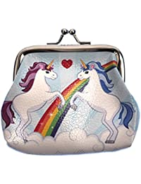 87a01ea5137 Magic Rainbow Unicorn Mini Clipper Coin Purse