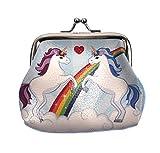 Magic Rainbow Unicorn Mini Clipper Coin Purse