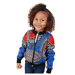 Proumy Kleinkind Kinder Mädchen Jungen Langarm Mode afrikanischen Print Langarm Dashiki Kurze Jacke warme Outwear Jacke