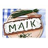 Tischset mit Namen ''Maik'' Motiv Schnittlauch - Tischunterlage, Platzset, Platzdeckchen, Platzunterlage, Namenstischset