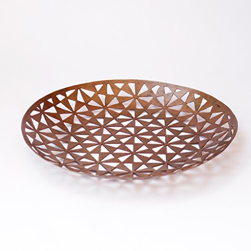 De Kulture Works™ Handcrafted Decorative Round Copper Finish Tray For New Year...