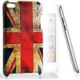 CASEiLIKE® - UK, British Retro Flag Cover / Case / Hülle aus langlebigem Hartplastik für das neue Apple 4G Touch / iPod Touch 4 Generation -- mit Displayschutzfolie 1pcs.
